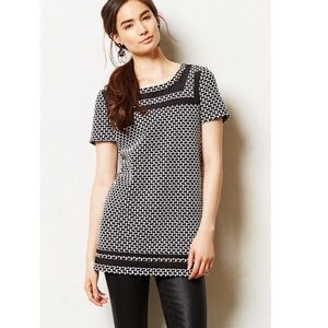 Anthropologie Postmark Basketweave Tunic